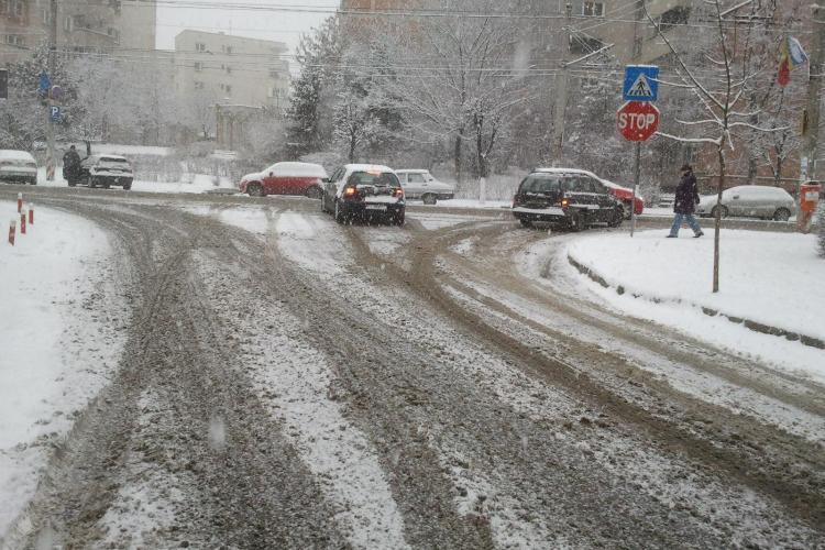 Clujul este sub zapada si plugurile firmelor Rosal si Brantner stau in garaje! - VIDEO si FOTO
