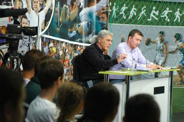 Iuliu Muresan, Alin Minteuan, Maftei si Rada discuta strategia pentru retur a CFR Cluj la Ora de Sport, pe TVR Cluj