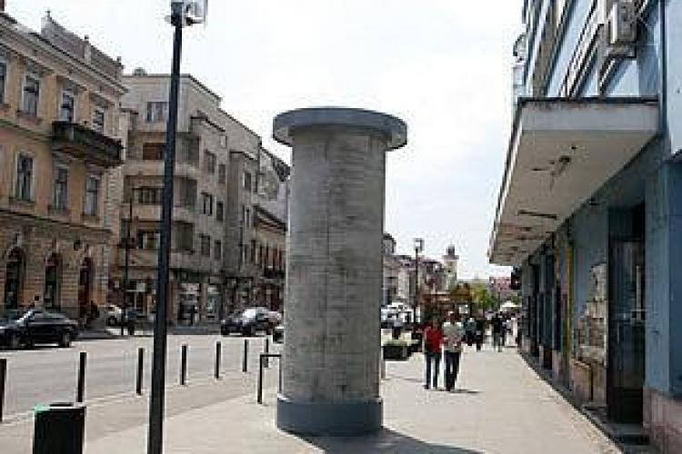 Reclamele fara autorizatie de construire din centrul Clujului, luate jos!