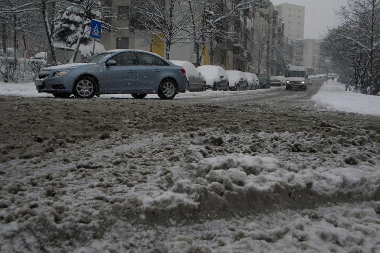 Accidente in lant in Baciu din cauza lipsei deszapezirii! STIREA CITITORULUI