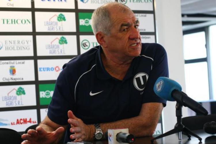 "Antrenorul lui FC Vaslui, Viorel Hizo: ""Universitatea Cluj este o echipa de primele sase locuri"""
