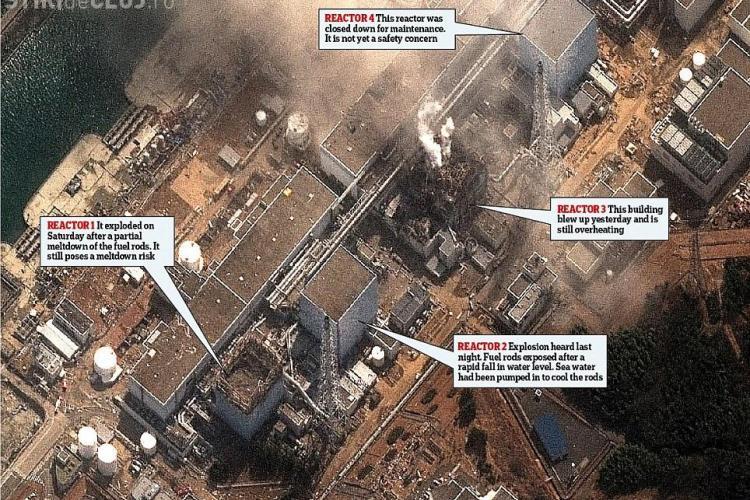 Incendiu la reactorul 4 de la Fukushima. Nivelul radiatiilor a crescut de 8 ori! - FOTO