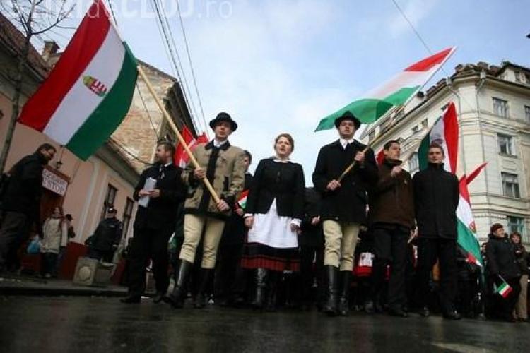 150 de jandarmi, scosi la Cluj in strada, de Ziua Maghiarilor de Pretutindeni!