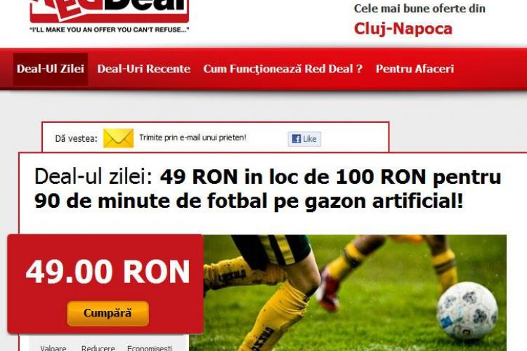 Va place sa jucati fotbal? Inchiriati acum un teren in Cluj cu 49 de lei, in loc de 100 lei (P)