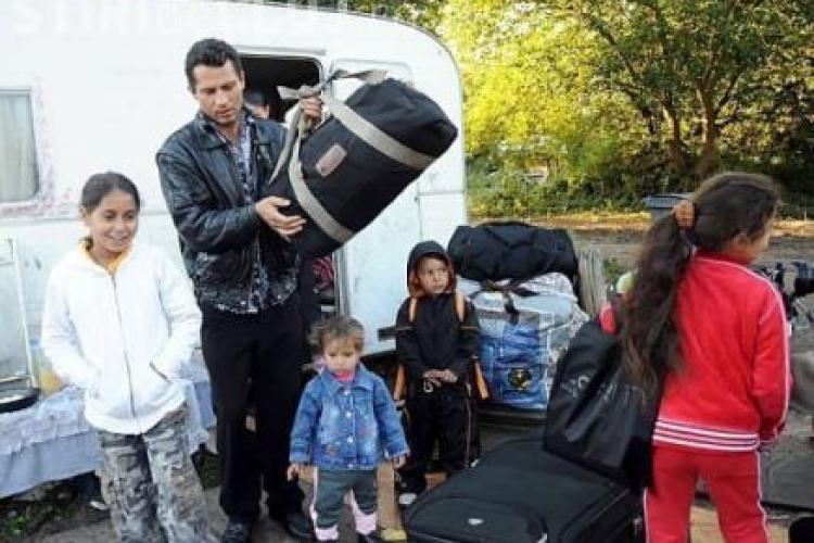 Tabere nomade de tigani, desfiintate de politistii comunitari din Cluj!