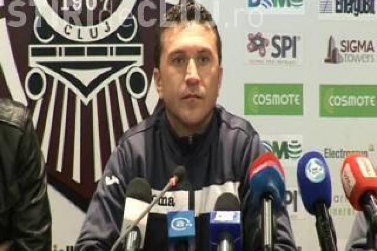 Antrenorul CFR Cluj, Alin Minteuan: Exista o stare de nervozitate la echipa