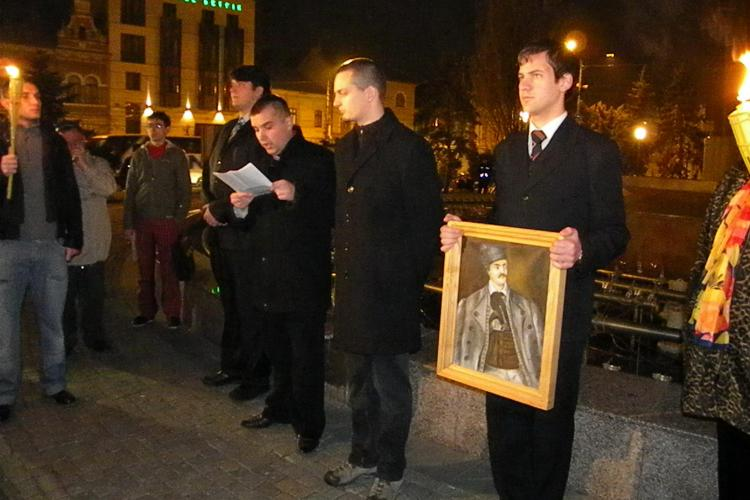Noua Dreapta l-a comemorat la Cluj pe Avram Iancu! Nu au lipsit discursurile extremiste - FOTO si VIDEO