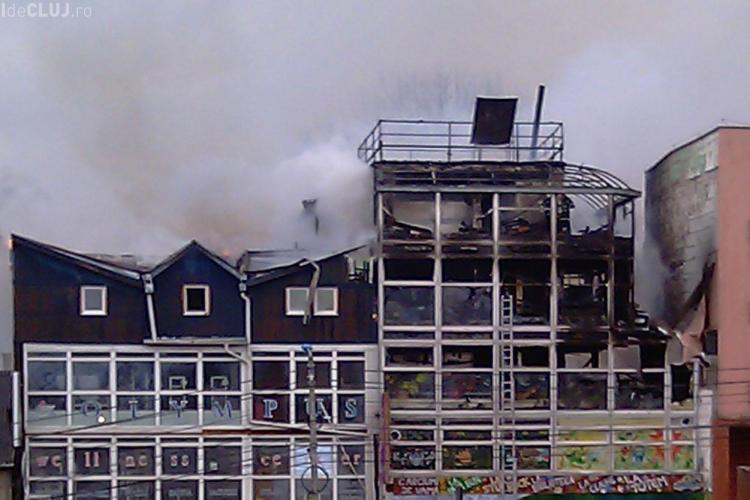 Incendiul de la Janis Stuf a fost provocat de un scurt circuit aparut la ultimul etaj