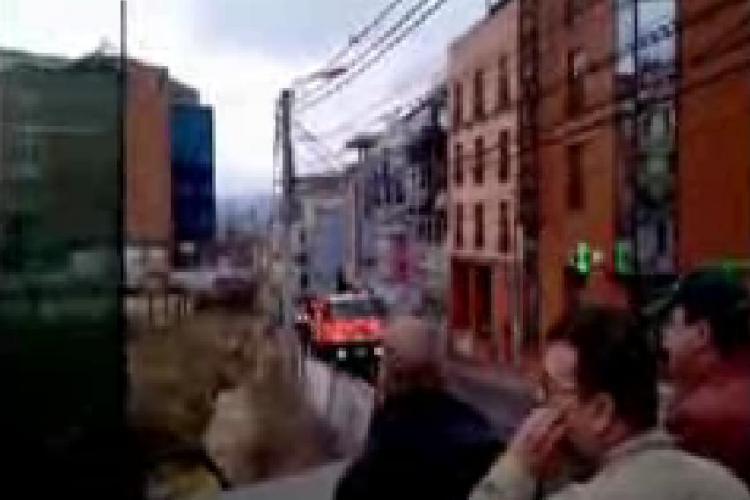 Incendiul de la Janis Stuf a fost surprins si de cititorii Stiri de Cluj.ro - VIDEO amator