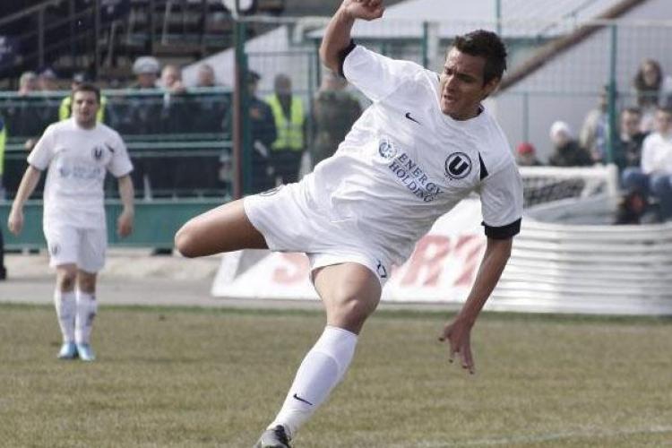 Universitatea Cluj a castigat cu 2 - 0 amicalul cu FC Ocna Mures