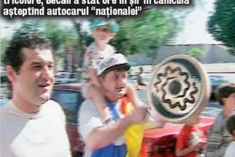 Gigi Becali nu era la fel de mare cocos in '94. TVR l-a prezentat intr-o inregistrare cum ii astepta pe tricolori - FOTO