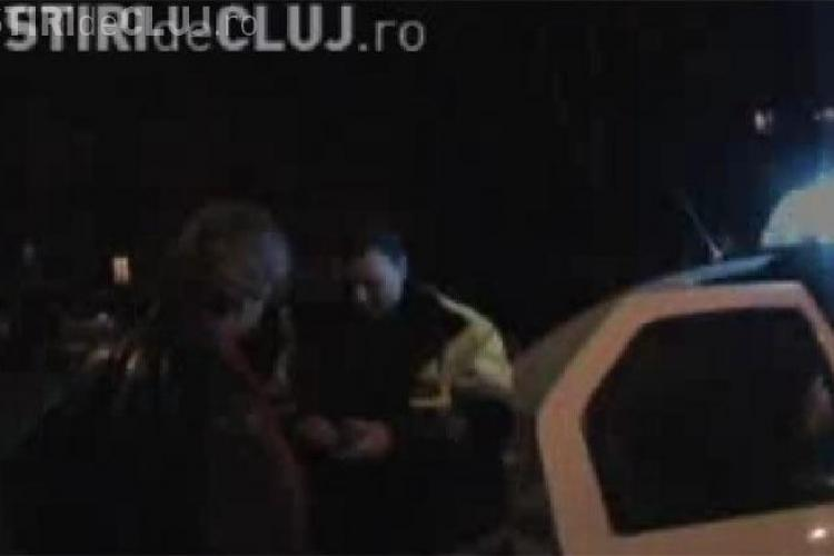 Un clujean beat a scapat ca prin minune dintr-un accident de circulatie - VIDEO