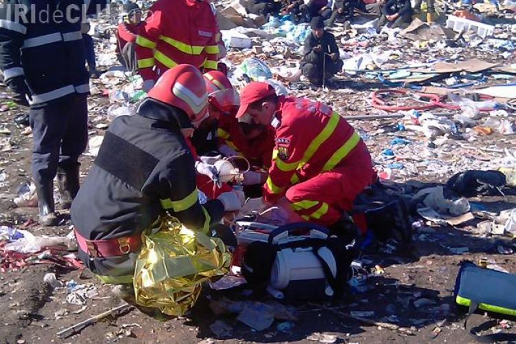 O tanara de 23 de ani a murit astazi dupa ce a fost calcata de un utilaj greu la rampa de gunoi de la Pata Rat, Cluj- VIDEO