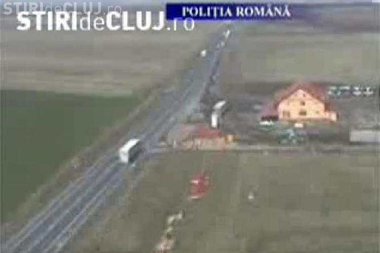 """Politistii au iesit la """"vanatoare"""" de vitezomani cu elicopterul - VIDEO"""