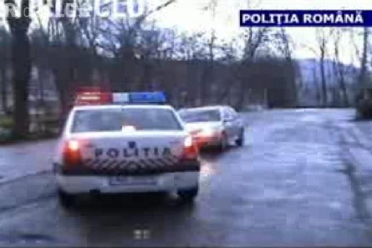 Hoti de motorina din Dej prinsi in flagrant - VIDEO si FOTO