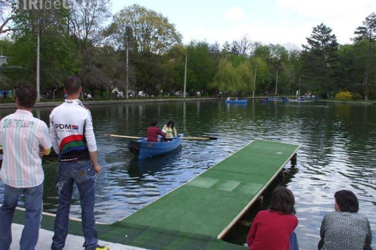 Lacul Chios din Parcul Central va fi golit in acest weekend si va fi curatat si amenajat