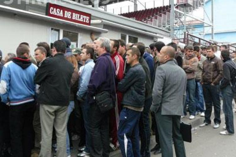 De joi puteti cumpara bilete la meciul de sambata CFR Cluj- Gloria Bistrita