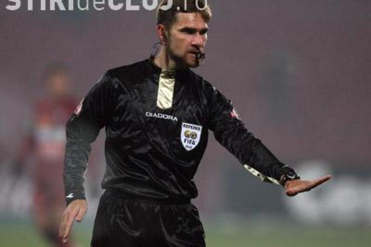 Alexandru Tudor arbitreaza vineri meciul U Cluj - Dinamo