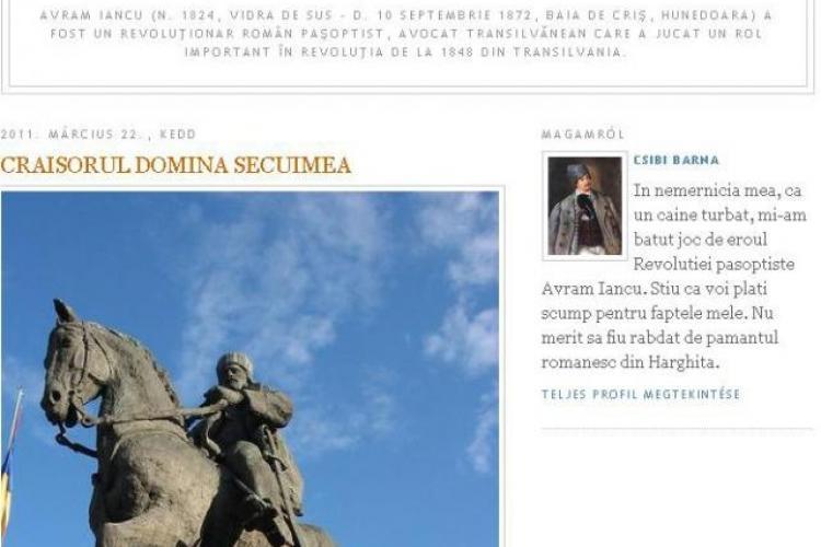 Blogul extremistului Csibi Barna a fost spart de hackeri
