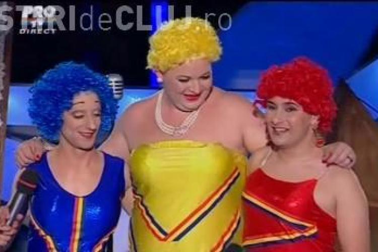 """Veveritele Vesele, show total la """"Romanii au talent""""! """"Fetele"""" l-au invitat pe Mihai Petre sa le """"calce, dar mai rar"""" - VIDEO"""