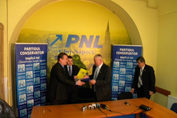 S-a constituit Alianta de Centru-Dreapta Cluj. Reprezentantii PNL si PC vor sa dea urmatorul primar al Clujului
