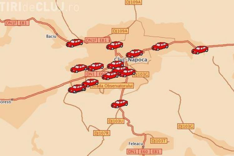 Vezi prin GPS unde sunt acum masinile de gunoi ale Rosal Cluj! Brantner Veres inca nu are sistemul disponibil pentru public- VIDEO