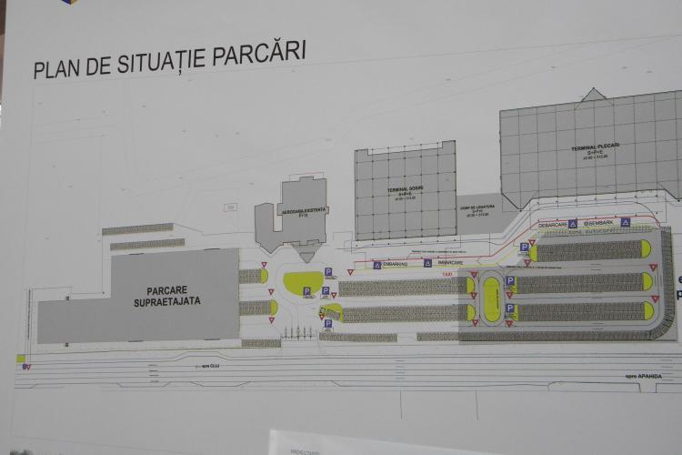 Vezi cum va arata noul parking suprateran de la Aeroportul International Cluj - VIDEO si FOTO