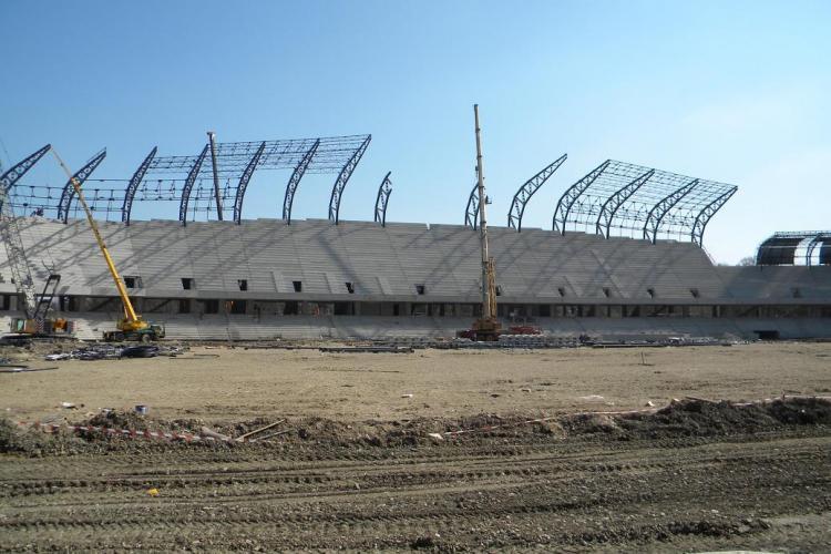 VEZI cum arata stadionul municipal Cluj Arena! Lucrarile sunt gata in proportie de 80% - VIDEO si Galerie FOTO