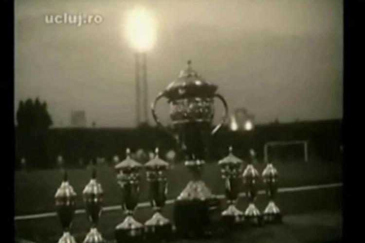 Vezi imagini istorice din finala Cupei Romaniei dintre Stiinta Cluj si Dinamo Pitesti (1965) - VIDEO