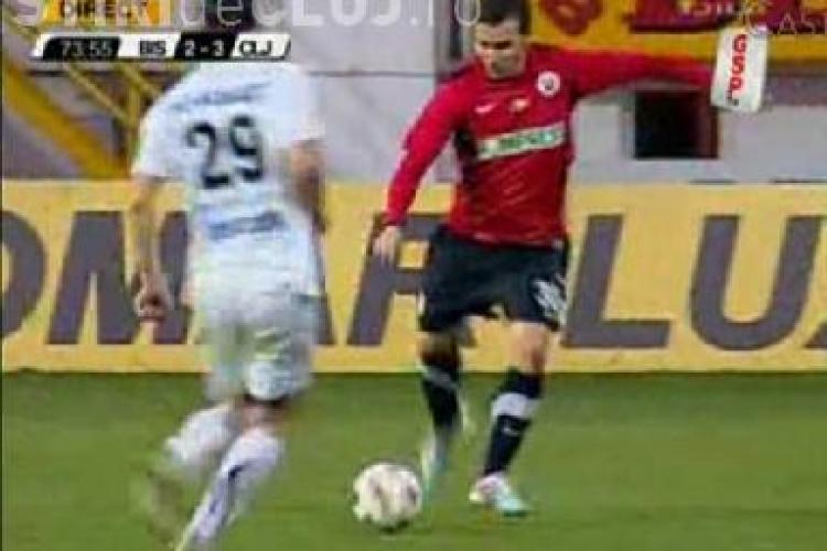 Printul Adrian Cristea reuseste dubla si aduce trei puncte pentru U Cluj - VEZI golurile