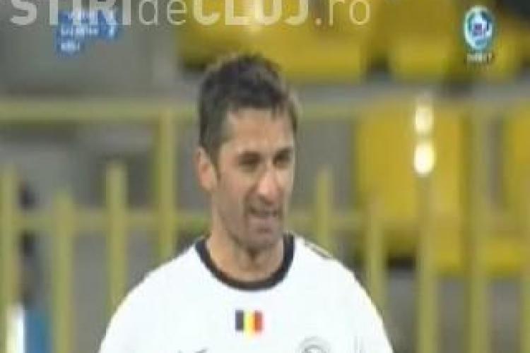 Vezi golul lui Cladiu Niculescu. U Cluj-Gaz Metan 1-0 - VIDEO