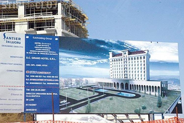 Proiectul Grand Hotel Italia din cartierul Buna Ziua a mai suferit o modificare! Primaria clujeana a cerut sa fie data jos firma pentru ca e urata