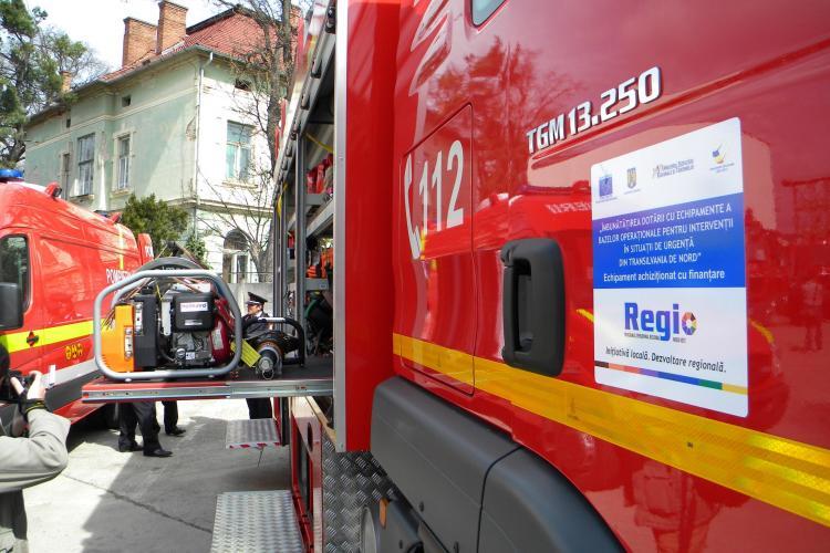 ISU Cluj a primit doua autospeciale de incendiu si descarcerare - VEZI GALERIE FOTO