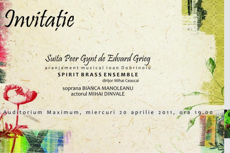 Suita Peer Gynt de Edvard Grieg, prezentata in premiera mondiala la Cluj