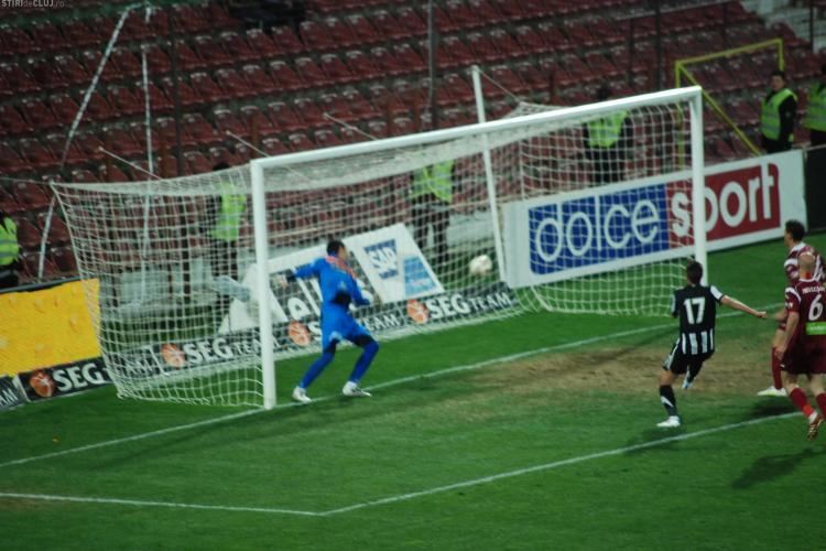 La golul U Cluj din meciul cu CFR, balonul nu a trecut linia portii! VEZI FOTO