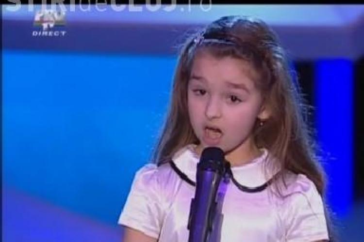 """Rebeca, ingerul de la """"Romanii au talent"""", l-a impresionat pe Mihai Petre - VIDEO"""