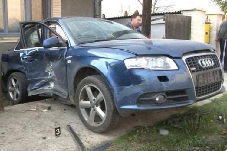 Accident in Iclod, produs de baronul local Vasile Pogacean, fostul socru al cantaretei Angela Rusu! - VIDEO