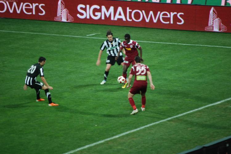 Gol din off-side inscris de CFR Cluj in meciul cu U Cluj! VEZI FOTO