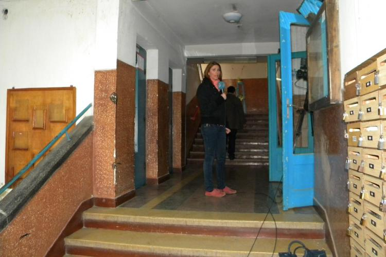 Muncitor strivit de un lift pe Aleea Detunata din cartierul Gheorgheni VIDEO si FOTO
