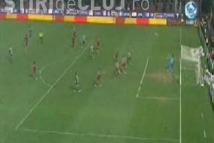 Vezi golul inscris de Cojocnean pentru Universitatea Cluj. CFR-U 1-1