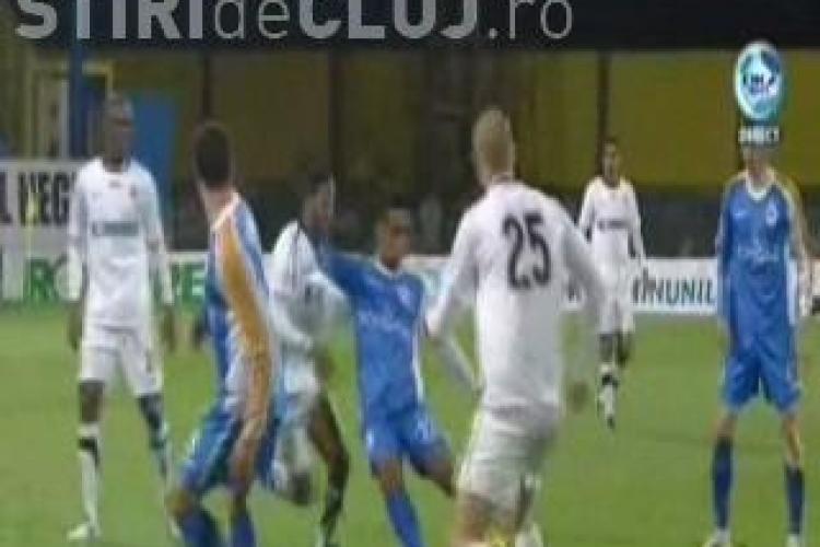 Vezi golul lui Eric de la 20 de metri. U Cluj-Gaz Metan 2-1 - VIDEO