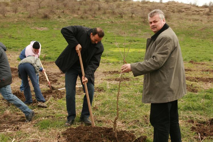 Sorin Apostu a plantat arbusti in Padurea Tineretului - VIDEO si FOTO