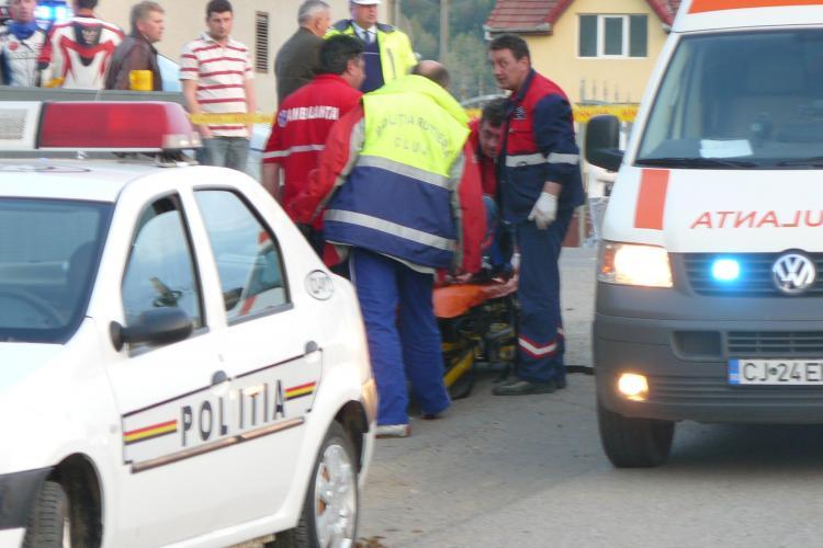 Motociclist ranit grav in Floresti! Biker -ul a intrat sub o remorca - FOTO