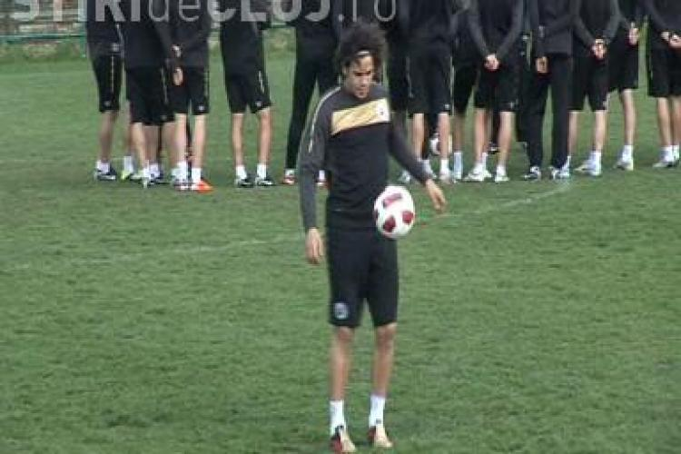 Florescu s-a antrenat cu U Cluj, dar a fost scump la vorba! VEZI imagini de la antrenament - VIDEO