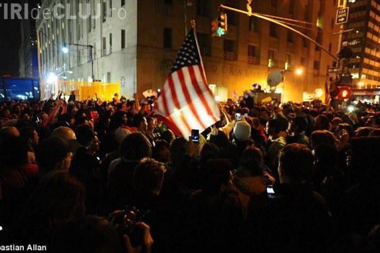 Americanii au sarbatorit in strada uciderea lui Osama Bin Laden de catre trupele speciale VIDEO si FOTO