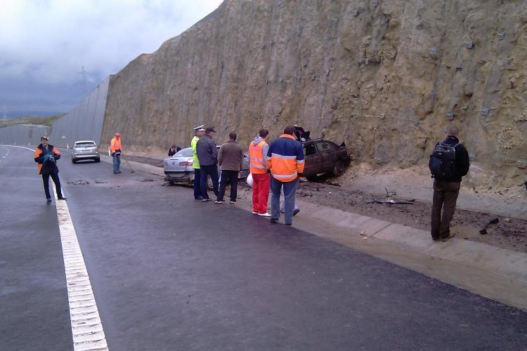 Accident pe Autostrada Transilvania A3! Doua persoane au fost ranite