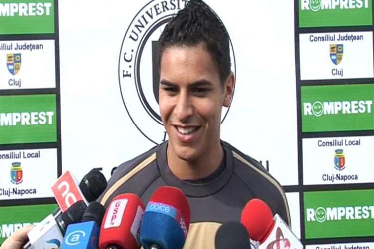 Atacantul Universitatii Cluj, Gabriel Machado, vrea sa inscrie inca 3 goluri pana la finalul campionatului