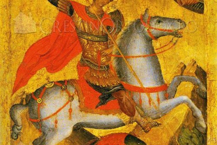 Sfantul Gheorghe este sarbatorit luni, 25 aprilie. Aproape un milion de romani isi serbeaza onomastica!