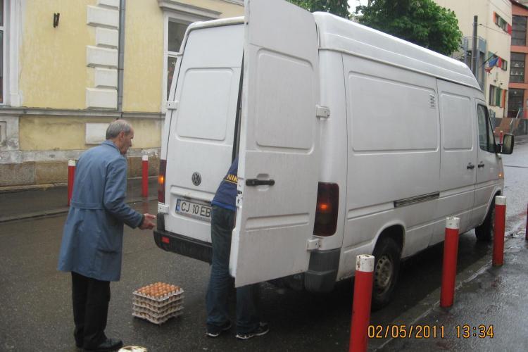 Haos in aprovizionarea firmelor din centrul Clujului! Primaria a aplicat amenzi de 2.100 de lei