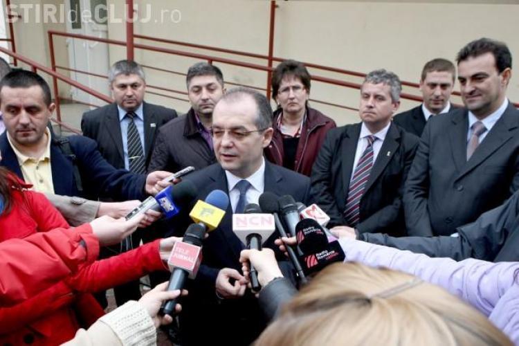 Premierul Emil Boc a venit la Cluj la aniversarea fiicei lui, Cezara